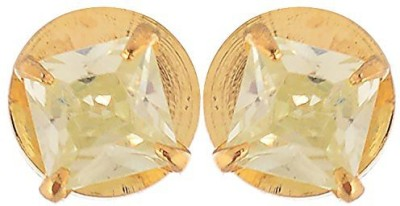 Vanshika Jewels Square Shape Solitaire Stud 3.5mm Alloy Stud Earring