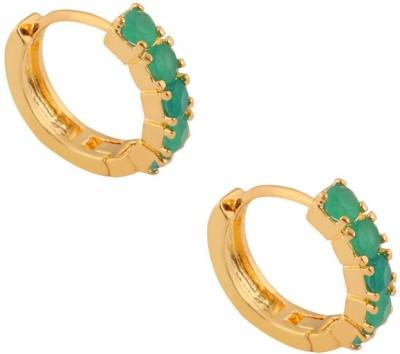 SuperShine jewelry Spring Sparkle Cubic Zirconia Brass Huggie Earring