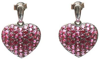 VelvetCase Pink Heart Valentine Stud Earrings Silver Stud Earring