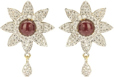 Bejeweled American Diamond Collection Zircon Brass Drop Earring
