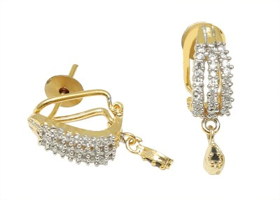 99HomeMart Gold Spikes Cubic Zirconia Metal Huggie Earring