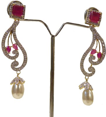 Aakhya EAR12 Diamond Rose Gold Drop Earring