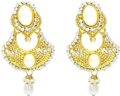 Glamche Studded Cubic Zirconia Alloy Drop Earring