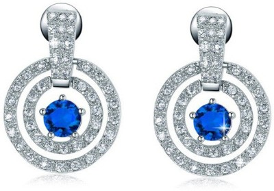 ArietteJewels Ariette Jewels Sunlight Earrings - Blue White Gold Drop Earring