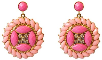 Sparkling Trinkets Pink Alloy Dangle Earring