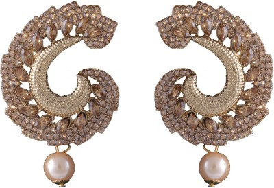 Graykart South Indian Stylish Gold Plated Beautiful Ethnic Designer Alloy, Zinc Drop Earring