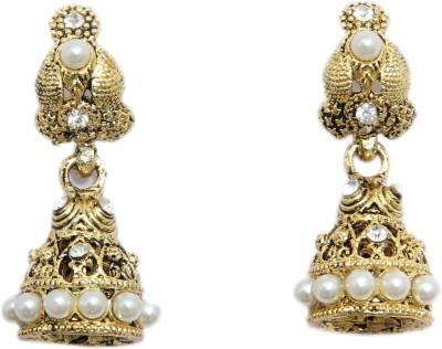Greek Sojourn F3B51 Pearl Brass Drop Earring