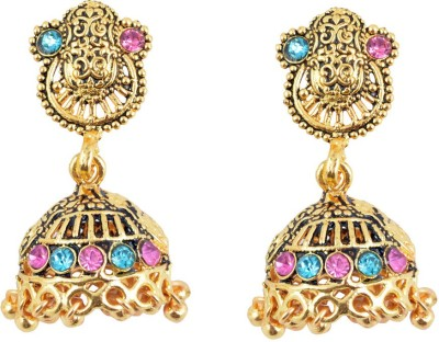 Diovanni Finely Crafted Elegant Golden Metal Jhumki Earring