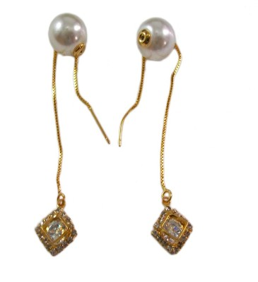 Bandish Gold toned Sooi Dhaga Alloy Dangle Earring