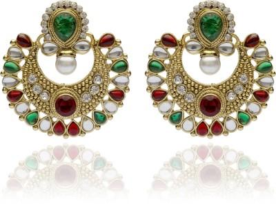 Veracious Jewellery Polki Ramleela style Copper Chandbali Earring