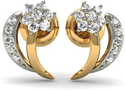 R S Jewels Creative Designs Yellow Gold 18kt Diamond Stud Earring