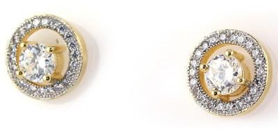 Super Shine Sparkle Brass Stud Earring