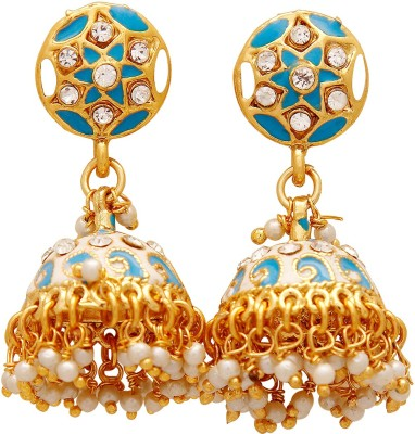 Jewel House Festive Bling Copper Jhumki Earring