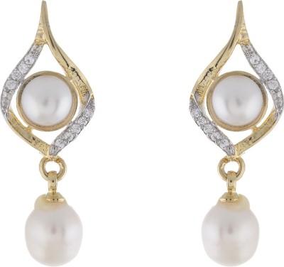 Jewel Planet Beautifully Designed Pearl Alloy Drop Earring