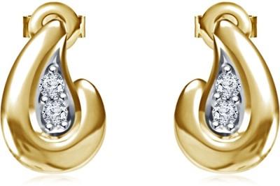 Kirati Teardrop Shape Cubic Zirconia Sterling Silver Stud Earring