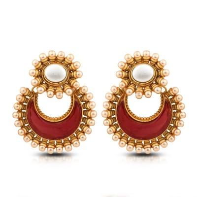 Aanjaneys Indian Ethnics Stylist Brass Chandbali Earring