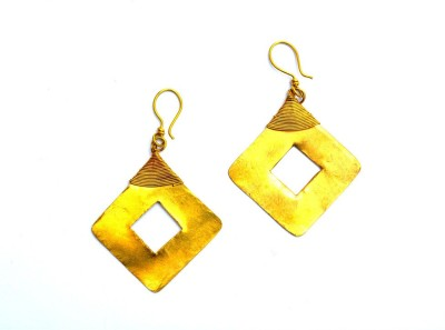 Art Godaam Dhokra Tribal 0014 Brass Dangle Earring