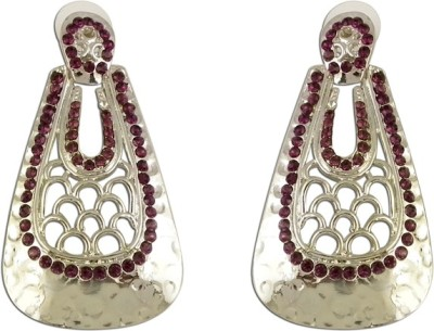 The Fine World Colour Stones Zircon Metal Drop Earring