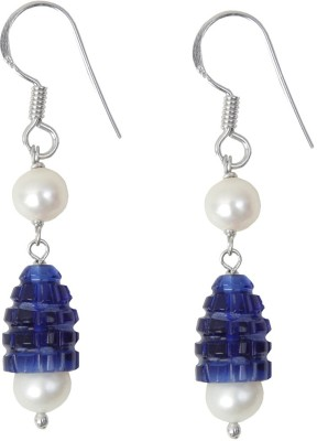 Ansh collection Princess Delight1 Crystal, Pearl Silver Drop Earring