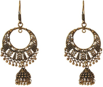 Red Gold Style24 Metal Chandbali Earring