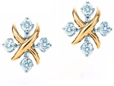 ArietteJewels Cross Earring - Gold Copper Stud Earring