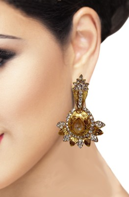 Triumphin Sunflower Crystal Alloy Drop Earring