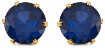 Krishna CZ Collection Cubic Zirconia Brass Stud Earring