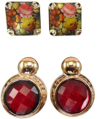 Modish Look Colorful Spree Alloy Earring Set