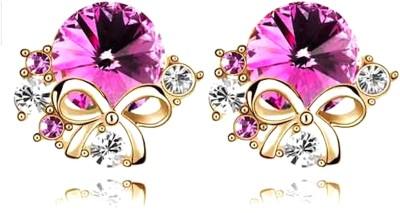 Nexessories Bow & Crystals Metal Stud Earring