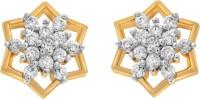 Alysa Ekisha Cubic Zirconia Brass, Copper, Silver Stud Earring