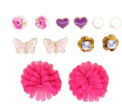 Circuzz Combo pack of stud Brass Earring Set
