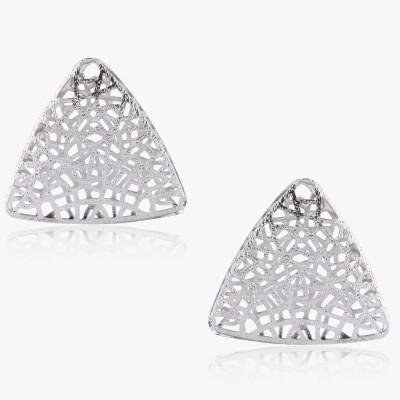 Shamoda Trendy Silver Jaali Metal Stud Earring