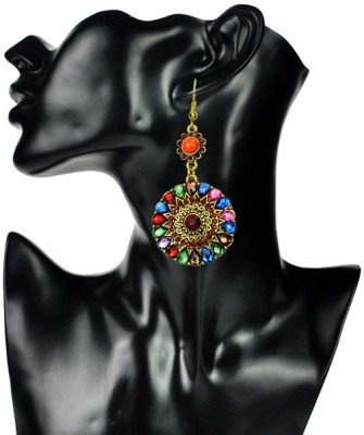 Insia Fleur Melange Alloy Dangle Earring
