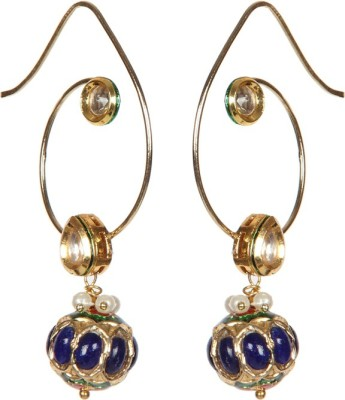 Envy U - Hook Kundan Brass Dangle Earring