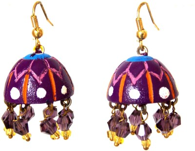 Red Gold Jalwa38 Terracotta Jhumki Earring