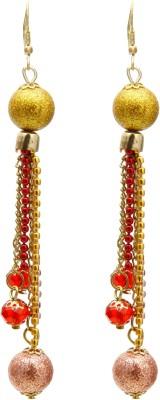 Galz4ever Fine Red Bead Alloy Dangle Earring