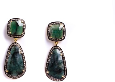 My DT Lifestyle Victorian Emerald Yellow Gold Drop Earring