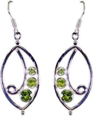 Riyo Provocative Peridot Peridot Sterling Silver Dangle Earring