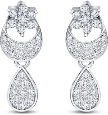 Mani Jewel Floral White Gold 18kt Diamond Drop Earring