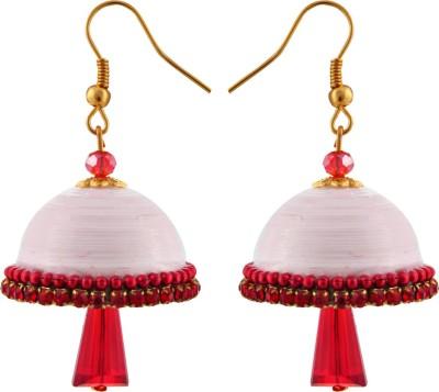 RR ENTERPRISES Hancrafted White Hook Jhumka Paper Jhumki Earring