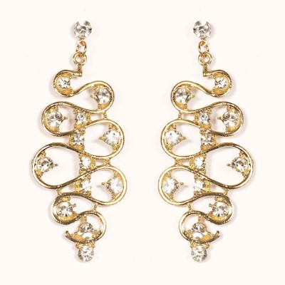 Urthn Designer Fashion in Gold-1301633 Alloy Drop Earring