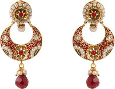 Aaina Home Decor Trendy Earring Cubic Zirconia Copper Drop Earring