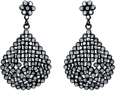 SuvidhaArts Fashion Diva Cubic Zirconia Brass Drop Earring