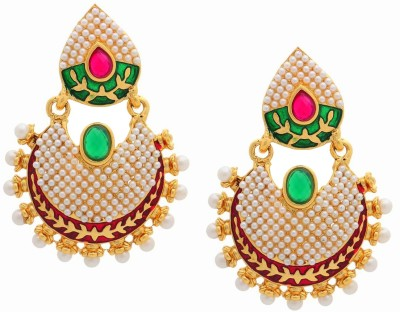 the jewelbox Ram Leela Copper Chandbali Earring
