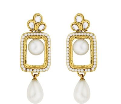 BeBold Drop Pearl Fashion Brass Drop Earring