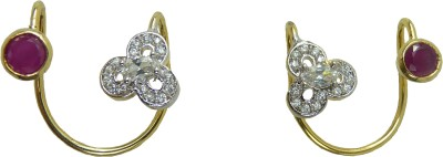 Aakhya EAR16R Diamond Rose Gold Hoop Earring