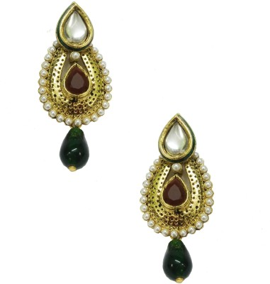 Taruni Maroon Shining Earrings. Alloy Drop Earring