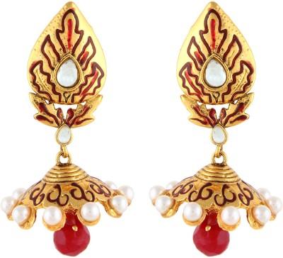 Aadi Creations Pearl Delight Copper, Brass Jhumki Earring