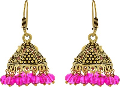 Subharpit Ethnic trendy Beads Metal Jhumki Earring