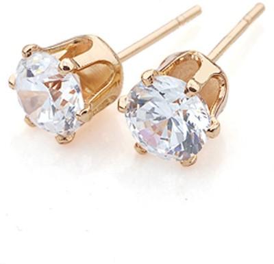 Aahna- Designer Jewellery Pleasing Cubic Zirconia Copper Stud Earring